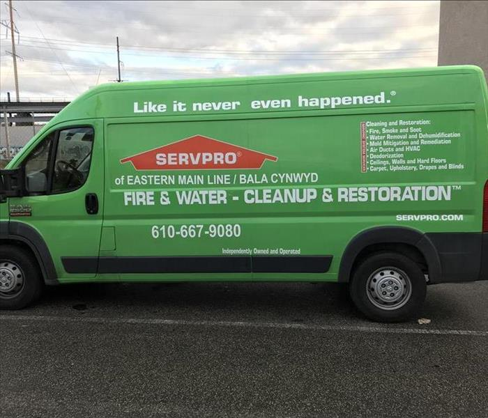 One of Our Vans From The Green Fleet