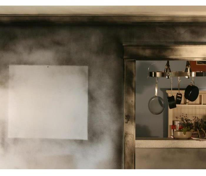 Kitchen Walls Covered in Soot